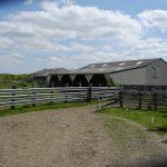 Vue des bâtiments agricoles